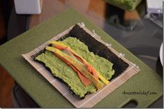Making Paleo Sushi (Avocado Instead of Rice) - ancestral chef Paleo Sushi, Sushi Recipes, Dinner Recipes, Primal Recipes, Clean Recipes, Real Food Recipes, Healthy Recipes, Healthy Food, Sin Gluten