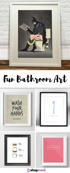 Liven up your home bathroom with one of these fun prints for the wall.