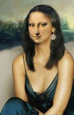 Hot Mona Mona Lisa : More Pins Like This At : FOSTERGINGER @ Pinterest.