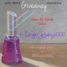 Giveaway time on @lacquerbaby 's profile on IG