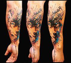 Wolf tattoo (splash)