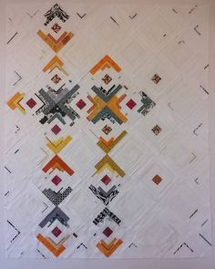 """""""Just sewed the last block of my Scraps III quilt! And found the final layout too!! I couldn't be happier with it . Now to sew them all together to make…"""""""