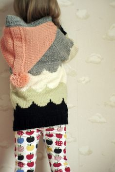 Must find a way to crochet this or learn to knit ASAP! Knitting For Kids, Baby Knitting, Fashion Moda, Kid Styles, Girls Sweaters, Kids Wear, Kids Fashion, Toddler Fashion, Cute Kids