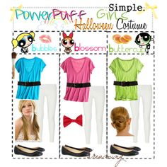 && heree i'mma show you guys a cute group costume for halloween.THE POWERPUFF GiRLS! Power Puff Costume, Bubble Costume, Diy Girls Costumes, Cute Costumes, Costume Ideas, Costume Contest, Powder Puff Girls Costume, Powerpuff Girls Halloween Costume, Blossom Costumes