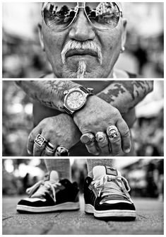 Collections of triptych photography - The grieving Sailor - Hamburg