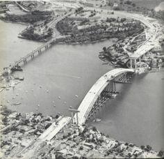 Gladesville bridges, the old and new, side by side. x OzRoads. Aussie Australia, Australia House, Sydney Australia, Australia Travel, Old Images, Old Pictures, Old Photos, Vintage Photos, Old Bridges