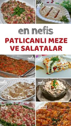 Patlıcanlı Salata ve Meze Tarifleri - Nefis Yemek Tarifleri Eggplant Salad and Appetizer Recipes - Delicious Recipes, Eggplant # the Yummy Recipes, Easy Salad Recipes, Easy Salads, Appetizer Recipes, Vegetarian Recipes, Appetizers, Healthy Recipes, Salad Menu, Salad Dishes