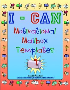 """Give your students extra encouragement with these simple to make """"I-Can"""" mailboxes! This is an awesome class building activity! FREE"""