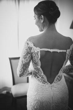 Customized wedding dress.