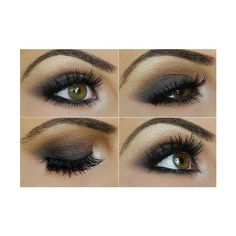 gray smokey eye #makeup ❤ liked on Polyvore featuring makeup, eyes, beauty, eye makeup and eyeshadow