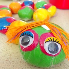 Rainbow Play dough Caterpillar