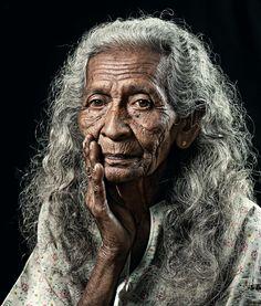 elder woman in years of active wisdom