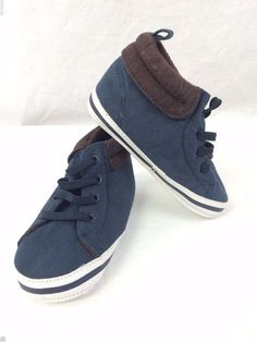 Carter's Shoes Baby Boy Size 4 Dark Blue Navy Soft Shoes #Carters #CasualShoes