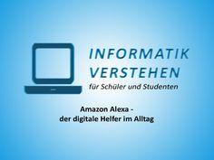#Alexa, #Siri, #Google oder #Cortana? Welche ist deine persönliche Favoritin? Wir stellen Alexa von #Amazon vor. #infverstehen #informatik #beliebt #studium #helfer