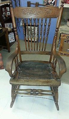 Marvelous Antique Wooden Rocking Chair