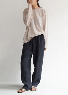 Casual Chic - loose fit pants & slouchy top