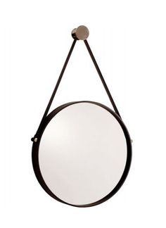 Image of Expedition Iron Mirror with Leather Strap $440