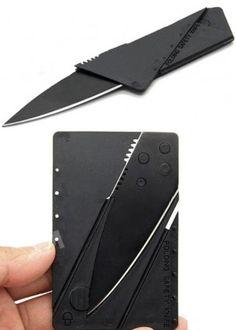 Kniv i kredittkortstørrelse