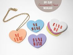 """""""Lines Across"""": DIY Clay Candy Hearts"""