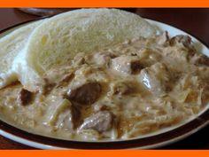 Segedínsky guláš s domácou knedľou Oatmeal, Ice Cream, Breakfast, Desserts, Food, Red Peppers, Chef Recipes, The Oatmeal, No Churn Ice Cream