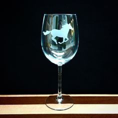 Now available on our store: Wine Glass with G... Check it out here! http://integritybottles.com/products/wine-glass-with-galloping-horse-hand-etched?utm_campaign=social_autopilot&utm_source=pin&utm_medium=pin  #integritybottles