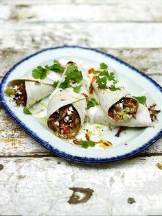 Cajun rice & barbecue turkey burrito | Jamie Oliver