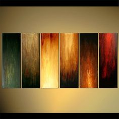 """Original Abstract Painting 72"""" x 36"""" ORIGINAL Acrylic Painting Interaction Ready to hang by Osnat Tzadok - Made-To-Order on Etsy, $899.00"""