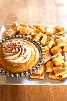 Pumpkin Spice Cheesecake Dip with Sugar Cookie Pieces