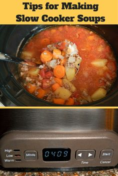 Tips for making slow cooker soups