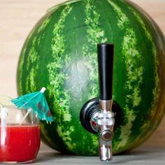 DIY Watermelon Cocktail Keg + Tropical Watermelon & Coconut Rum Punch ...