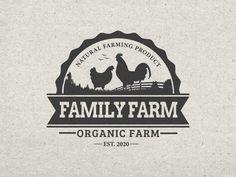 Logo Design Template, Custom Logo Design, Custom Logos, Graphic Design, Business Logo Design, Business Branding, Chicken Logo, Creative Typography Design, Farm Logo