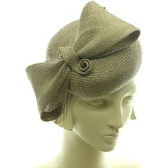 Straw Pillbox Hat for Women - Cocktail Hat - Handmade Fashion Hat -... ($210) ❤ liked on Polyvore