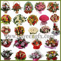 www.NaveenGFX.com: Flower Bouquest PSD FIles Free Download