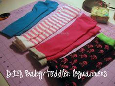 Samster Mommy: DIY Infant/Toddler Legwarmers