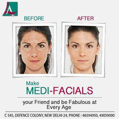 Medi-Facials are skin treatments formulated to revitalise, heal and refresh your skin. Call 91-11-46594950 to book your appointment.