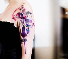Perfume and Flowers tattoo by Marta Lipinski