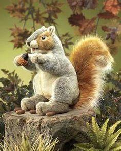Folkmanis Squirrel, Gray Hand Puppet - 2553