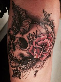 My new tattoo, love it sugar skull