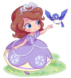 Adorable Sofia the First via --> http://gekiamana.tumblr.com/post/122075533097