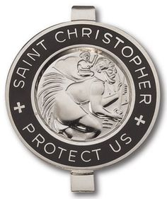 Visor Clip Car Automobile Religious Christian Catholic Decoration Icon Saint St. Patron Gift -St. Patron Saint Icon Christopher Travelers Traveling Medal Silver Onyx Black Dark - http://www.carhits.com/visor-clip-car-automobile-religious-christian-catholic-decoration-icon-saint-st-patron-gift-st-patron-saint-icon-christopher-travelers-traveling-medal-silver-onyx-black-dark/
