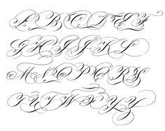 """Flourished Engrosser's Script  #flourishforum #engrossersscript #flourishing #alphabet #handletteredABCs #penmanship #handwriting #pointedpen…"""