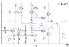 Discrete Class AB Transistor Audio Power Amplifier Circuit Diagram This is a class AB transistor power amplifier. It is a simple amplifier to build, uses standard parts and is stable and reliable. The entire circuit utilizes commonly available components and may be simply built over a general-purpose board. But this amplifier has very good sound quality.