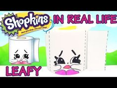 LEAFY Shopkins in Real Life from Season 2 Shopkins DIY STF - YouTube