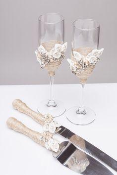 Personalized wedding flutes Wedding champagne glasses Toasting