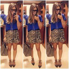Leopard Skirt - Thassia Naves