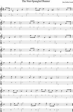 The Star-Spangled Banner Ukulele Tab Ukulele Tabs Songs, Ukulele Fingerpicking Songs, Ukulele Songs Beginner, Banjo Tabs, Uke Tabs, Guitar Songs, Guitar Chords, Guitar Sheet Music, Kalimba