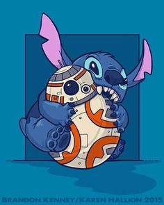 BB8 and Stitch by Karen Hallion