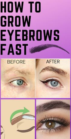 How to Grow Eyebrows Fast!- How to Grow Eyebrows Fast! How to Grow Eyebrows Fast! Thick Brows, Natural Brows, How To Grow Eyebrows, Grow Eyelashes, Growing Eyebrows Back, Longer Eyelashes, Long Lashes, Eyebrow Growth, Beauty Supply Store