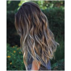 (10) Such healthy hair: Browns, ash blonde, and deep sand shades makes... ❤ liked on Polyvore featuring beauty products, haircare and hair