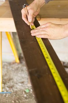 Measuring boards for a backyard floating deck